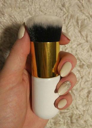 Акция ♥ кисть для макияжа кабуки с коротким ворсом таклон