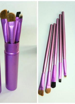 Набор кистей 5 шт для макияжа в металлическом тубусе probeauty