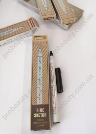 Маркер лайнер карандаш тату для бровей fine sketch 4 тона prob...