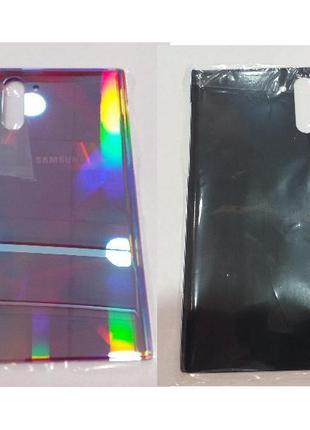 Задняя крышка Samsung N970F Galaxy Note 10, серебристая, Aura Glo