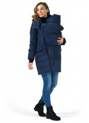 Куртка зимняя для беременных и слингоношения мадейра