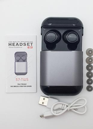 Беспроводные наушники Wi-pods S7 Bluetooth 5.0 металлик