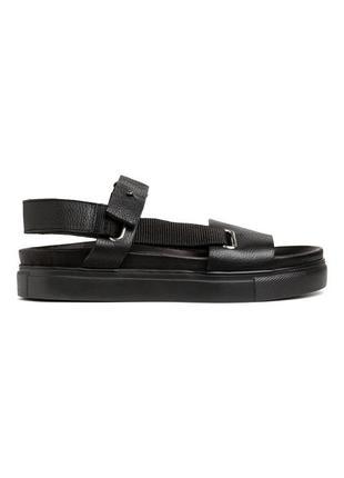 Черные кожаные сандалии h&m studio collection !