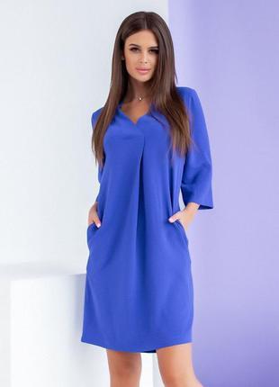 Строгое летнее платье свободного кроя  🖤