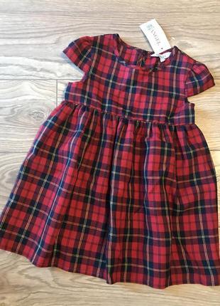 Платье в клетку на малышку (2-3 года)