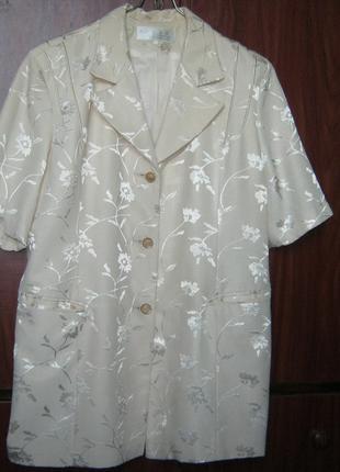 Жакет пиджак женский нарядный, большой размер