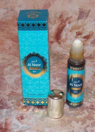 Арабские масляные духи без спирта al noor ,ролллер 8 мл ,оаэ