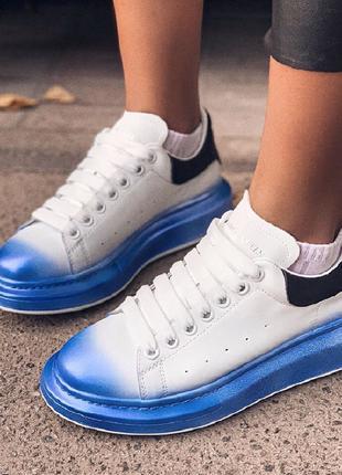 Alexander McQueen White Blue Black | Кроссовки|Кеды|Обувь