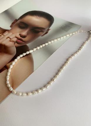Колье, ожерелье из пресноводного жемчуга, жемчужный чокер