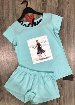 Одежда для дома - пижама футболка шорты.