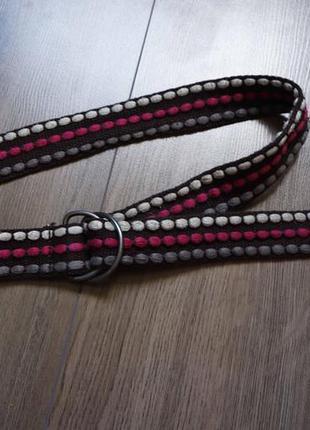 Текстильний плетений ремінь/пояс з двома кільцями