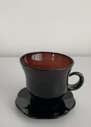 Кружка для кави чаю, чашка с блюдцем.