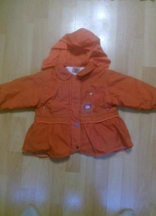 Фирменная куртка, курточка + шапка 1-2 года