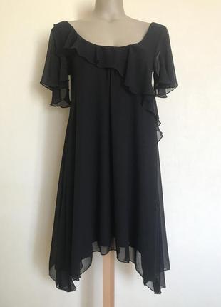 В наличии - шифоновое платье с коротким рукавом и рюшами *atmo...