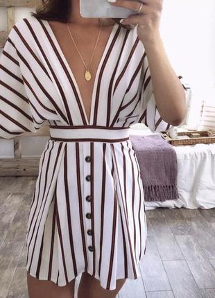Платье сарафан с поясом и пуговками