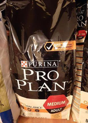 18 кг Purina (Пурина)Pro Plan (Проплан)MEDIUM ADULT Курица и Рис