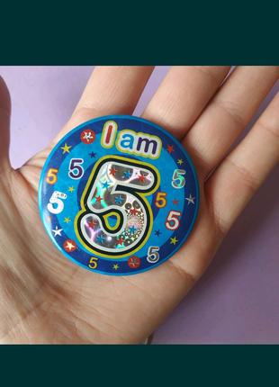 Значки на день рождения,цифры пять лет, шестнадцать лет,40 лет