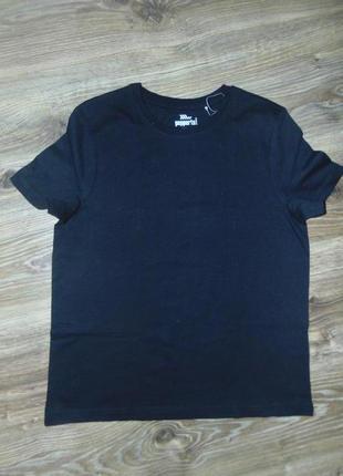 Детская, подростковая черная футболка для мальчика pepperts