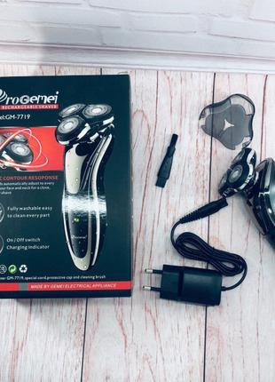 ProGemei GM-7719 аккумуляторная электробритва влагозащищённая