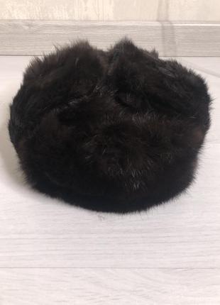 Зимняя шапка. мужская шапка ушанка. кроликовая шапка ушанка.