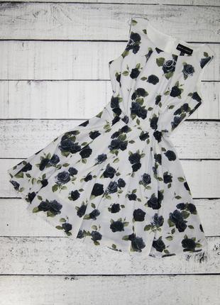 Платье белое в розу mela