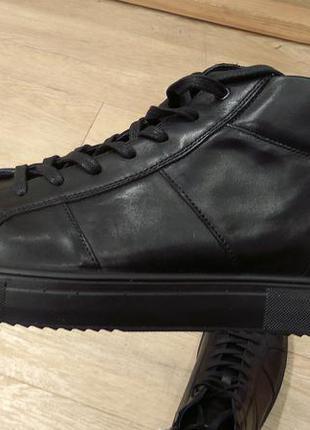 Черные кожаные полуботинки imac, на литой подошве.