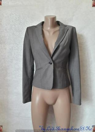 Фирменный h&m нарядный приталенный силуетный пиджак/жакет, раз...