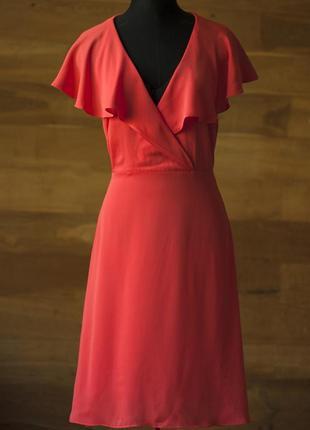 Красивенное платье кораллового цвета rochelle humes, s