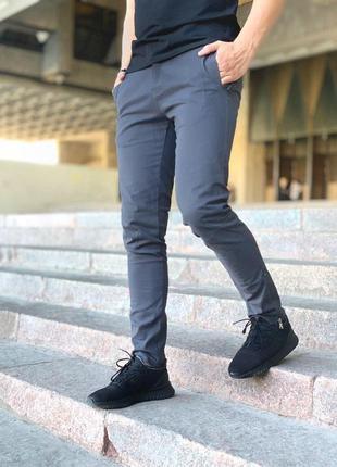 """Мужские коттоновые штаны intruder """"strider"""" серые"""
