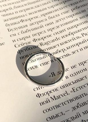 Тонкое кольцо серебро s925 с регулировкой размер 16/18