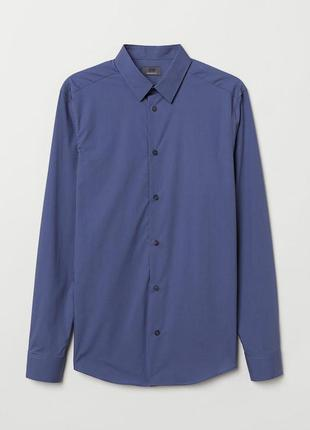 Рубашка из хлопка премиум h&m