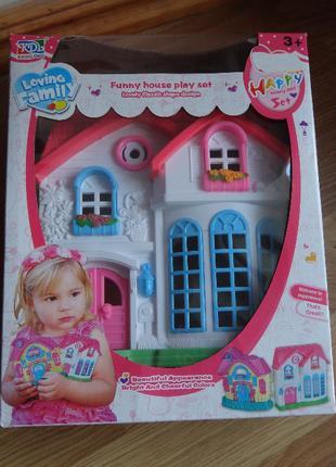 Дом игрушечный с мебелью