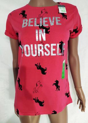 Классная футболка в единорогах, футболка на девочку подростка