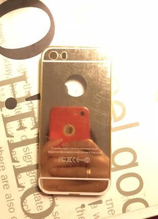 Зеркальный чехол бампер на iphone 5 s/se срочно