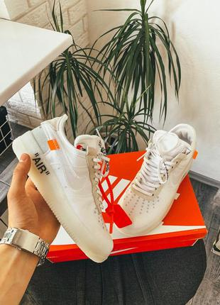 "Кроссовки nike air force 1 ""off white"" white 🔥sale🔥"