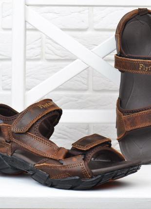 Кожаные мужские сандалии регулировка липами