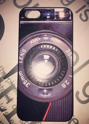 Чехол с принтом фотоаппарата на iphone 5 s/se
