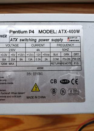 Блок питания logic power 400w ватт