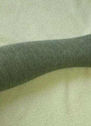 Митенки Длинные Трикотажные Серые перчатки без пальцев Деми