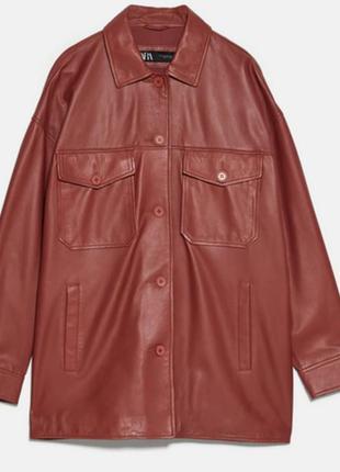 Куртка из натуральной кожи zara
