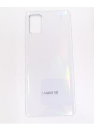 Задняя крышка Samsung A715F Galaxy A71, серебристая, оригинал (Ки