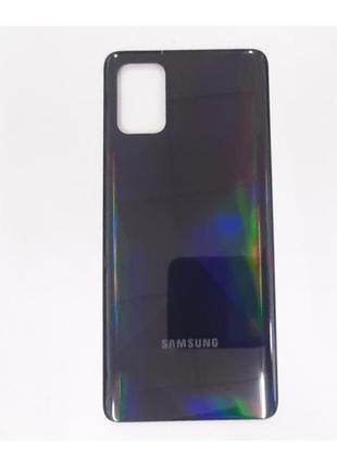 Задняя крышка Samsung A715F Galaxy A71, черная, оригинал (Китай)