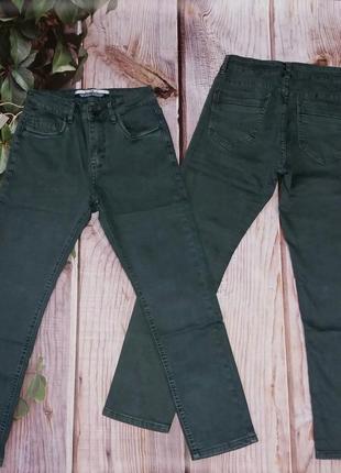 Серые,классические подростковые джинсы,штаны для мальчика