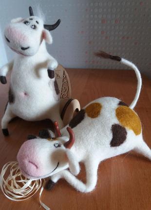 Игрушки валяные из шерсти Подарок ручная работа  хенд мейд