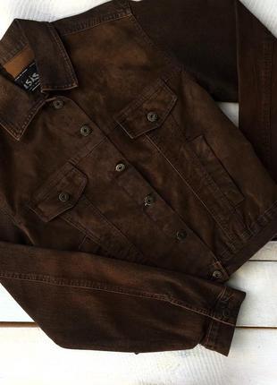 Джинсовая курточка с замшевыми вставками
