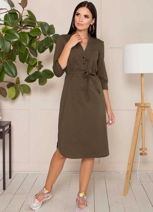 Стильное коттоновое платье * бесплатная доставка новой почтой!!!