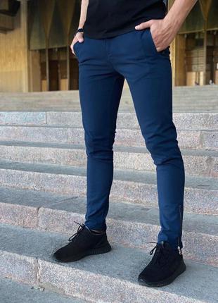 """Мужские коттоновые штаны intruder """"strider"""" синие"""