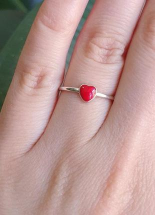 Кольцо серебро 925 сердце вс175