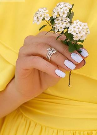 Кольцо серебро 925 тройное на фалангу юм 103553