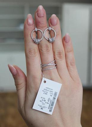 Набор серебро 925 кольцо и серьги соф 2230
